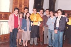 Alumnos de Histología. 1982