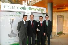 Miembros del Grupo de Investigación con el Premio Salud Investigación de Vanguardia. 2008