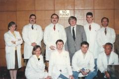 Miembros del Grupo de Investigación con el Profesor Godfried Roomans de la Universidad de Upsala