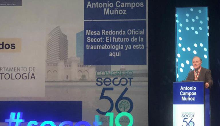 El Profesor Antonio Campos del Departamento de Histología de la Universidad Granada y del Grupo de Ingeniería Tisular participa como ponente invitado en el 56 Congreso de la SECOT (Sociedad Española de Cirugía Ortopédica y Traumatología)