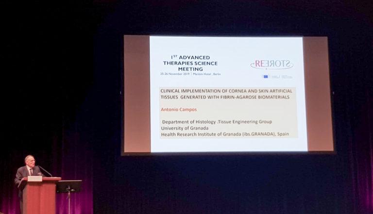 El Profesor Antonio Campos del Departamento de Histología y del Grupo de Ingeniería Tisular de la Universidad de Granada invitado a participar como ponente en Berlín en la Plataforma Europea sobre Terapias Avanzadas
